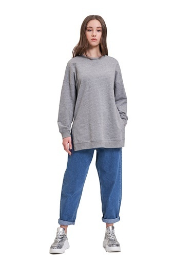 Mizalle Youth Sweatshirt Gri